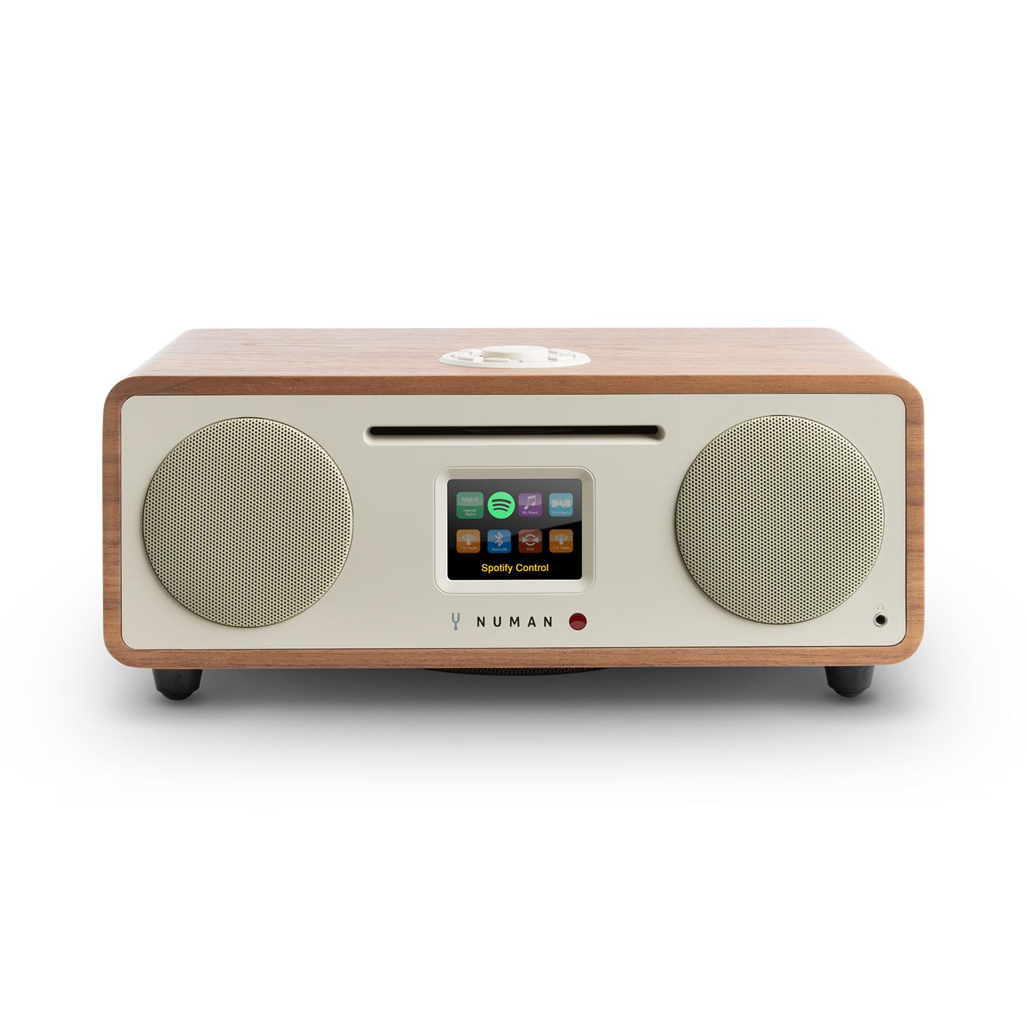 numan two 2 1 internet radio cd 30w usb bluetooth dab walnuss numan. Black Bedroom Furniture Sets. Home Design Ideas